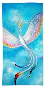 White Bird From Kingdom Of Immortals Beach Towel