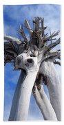 White Desert Tree Beach Towel