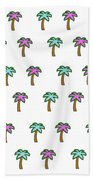 White Epic Palm Tree Print Beach Towel