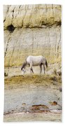 White Horse On A Mound Beach Towel