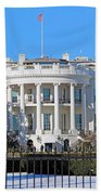 White House South Lawn With Snow Beach Towel
