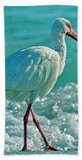 White Ibis Paradise Beach Towel