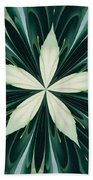 White Leaves In A Green Forest Kaleidoscope Beach Towel