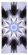 White-lilac-black Flower. Digital Art Beach Towel