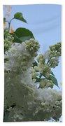 White Lilac Beach Towel