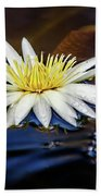 White Lily On Pond Beach Towel
