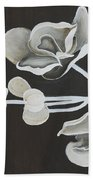 White Orchid First Section Beach Towel