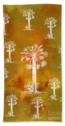 White Palms Gold Beach Towel
