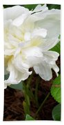 White Peonia Beach Towel