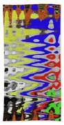 White Prickly Poppy Flower Color Abstract Beach Towel