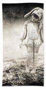 White Rabbit Beach Towel by Bob Orsillo