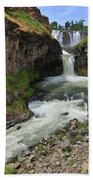 White River Falls C Beach Towel