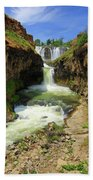 White River Falls D Beach Towel