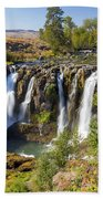 White River Falls In Tygh Valley Beach Towel