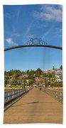 White Rock Pier In Bc Canada Beach Towel