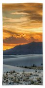 White Sands Sunset - 4 - New Mexico Beach Towel