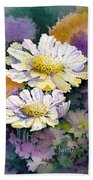 White Scabious Beach Towel