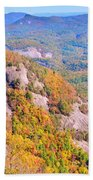 White Side Mountain Fool's Rock In Autumn Beach Towel