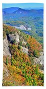 White Side Mountain Fool's Rock In Autumn Vertical Beach Towel