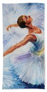 White Swan Beach Towel