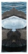 White-throated Dipper Mirrored Beach Towel