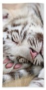 White Tiger Dreams Beach Sheet