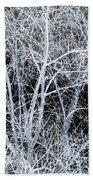 White Tree Black Night Beach Towel