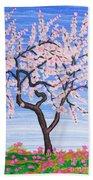 White Tree, Painting Beach Towel