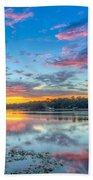 White Trout Lake Sunset - Tampa, Florida  Beach Towel