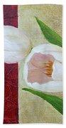 White Tulips Beach Towel by Phyllis Howard