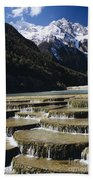White Water River - Lijiang Beach Towel