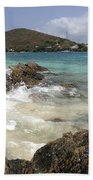 White Waves Crashing Beach Towel