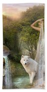 White Wolf Falls Beach Towel