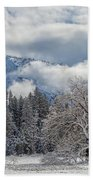 White Yosemite Beach Towel