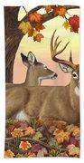 Whitetail Deer - Hilltop Retreat Beach Sheet