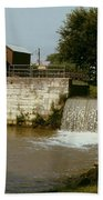Whitewater Canal Locks Metamora Indiana Beach Towel