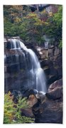 Whitewater Falls In Nc Beach Towel