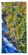 Whitewater Falls North Carolina Beach Towel