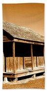 Whitney Plantation Slave Cabins Beach Towel