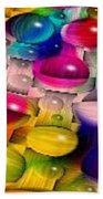 Wicker Marble Rainbow Fractal 2 Beach Towel
