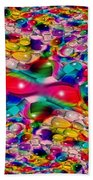 Wicker Marble Rainbow Fractal Beach Towel