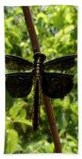Widow Skimmer Dragonfly Female Beach Towel