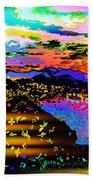 Wild And Crazy Mountainous Sunset Beach Towel