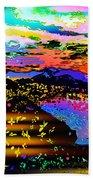 Wild And Crazy Mountainous Sunset Beach Sheet