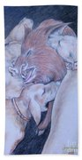 Wild Boar And Dogs Beach Towel