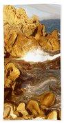Wild California Coast - Modern Art Beach Towel