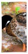 Wild Duck Mallard 1 Beach Towel