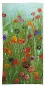 Wild Flowers Abstract Beach Towel