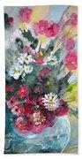 Wild Flowers Bouquet 01 Beach Towel