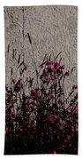 Wild Flowers On The Wall Beach Towel